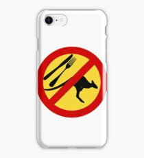 Don't eat Kangaroos (yellow) iPhone Case/Skin