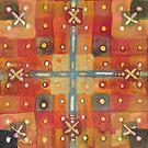 Last Rose, Gingko & Paperbark Maple - Abstract Watercolor by Dan Vera by danvera