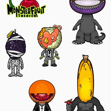MonsterFruit Theater Small Sticker Sheet 2 by wickedstudios