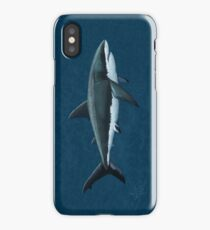 Carcharodon carcharias by Amber Marine, great white shark illustration, art © 2015 iPhone Case/Skin