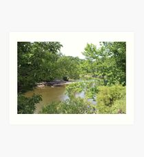 Cuyahoga River Bend Art Print