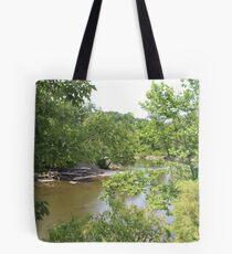 Cuyahoga River Bend Tote Bag