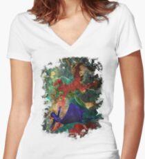Bioshock Infinite Falling Women's Fitted V-Neck T-Shirt