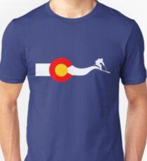 Ski Colorado Flag Slim Fit T-Shirt
