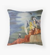 """Encounter""  by Carter L. Shepard Throw Pillow"