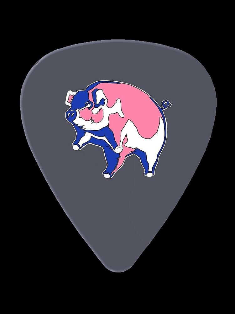 Pink Floyd Guitar Pick by BadAnimals