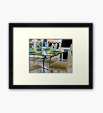 Table & Chairs   ^ Framed Print