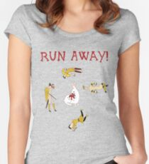 Run Away! Women's Fitted Scoop T-Shirt