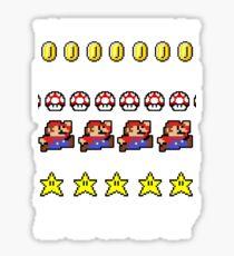 Super Mario 8-bit Ugly Christmas Sticker