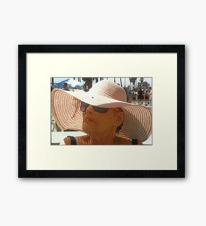 Lady Doris  Framed Print