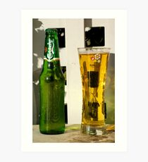 Carlseberg bottle and glass Art Print