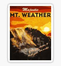 The 100 - Vintage Travel Poster (Mt. Weather) Sticker