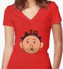 An Idiot Abroad Women's Fitted V-Neck T-Shirt