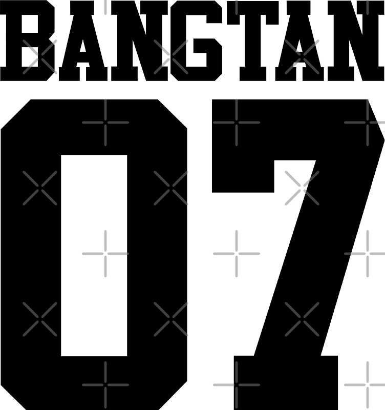 BTSBangtan Boys Jersey Style WNumber Stickers By