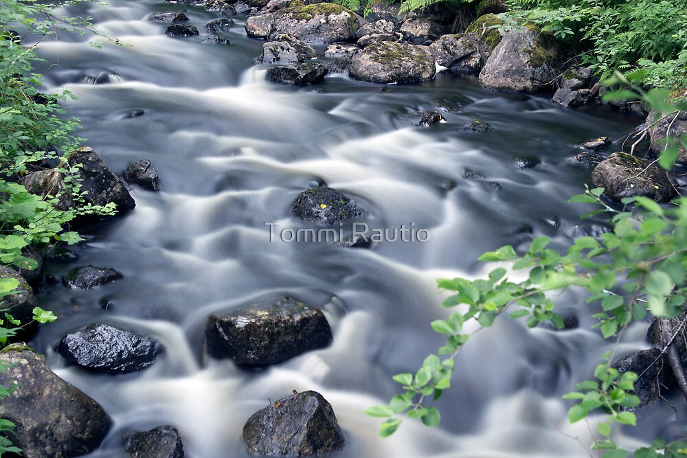 Flowing river 2 by Tommi Rautio