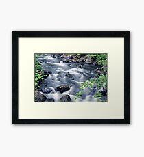 Flowing river 2 Framed Print