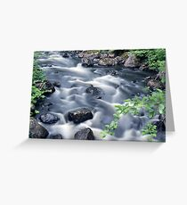 Flowing river 2 Greeting Card