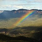 Rainbow over Mt Solitary by Dilshara Hill