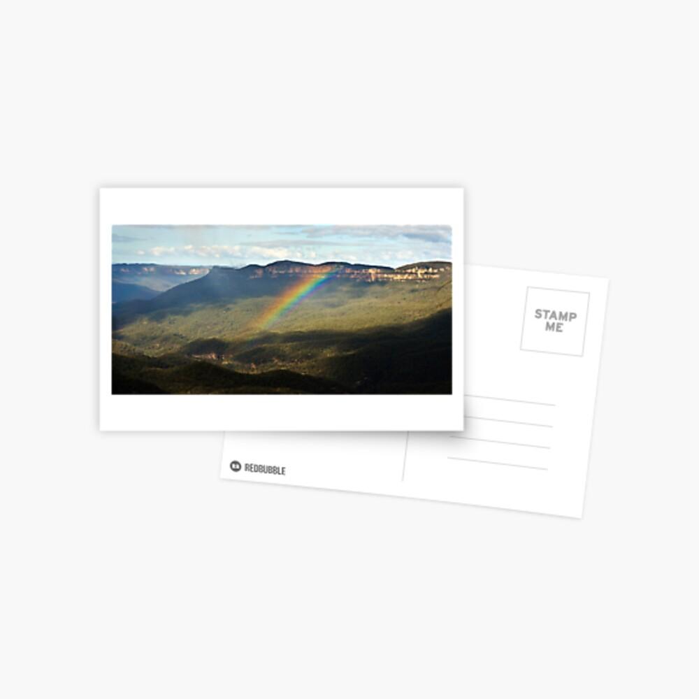 Rainbow over Mt Solitary Postcard