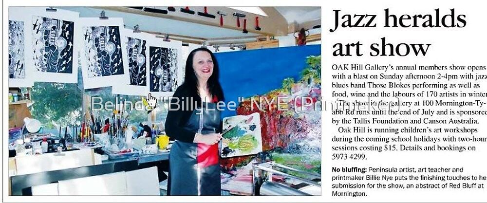 """Oak Hill Gallery Members Exhibition 2012 Newspaper Article by Belinda """"BillyLee"""" NYE (Printmaker)"""