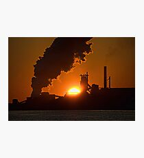Sunrise over Stelco Photographic Print