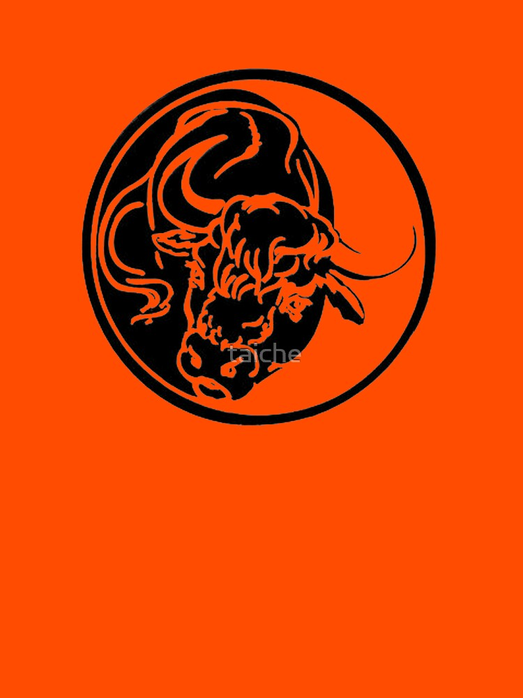 Black Bull Silhouette In Tribal Tattoo Style by taiche