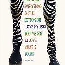 Zebra legs  by Yvon van der Wijk
