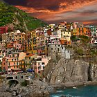 Fiery Cinque Terre by phil decocco