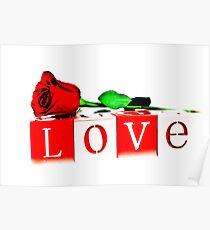Valentine's Day Love Rose Poster