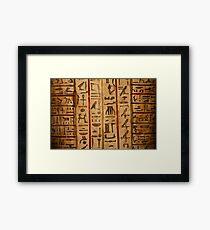 Egypt hieroglyphs Framed Print
