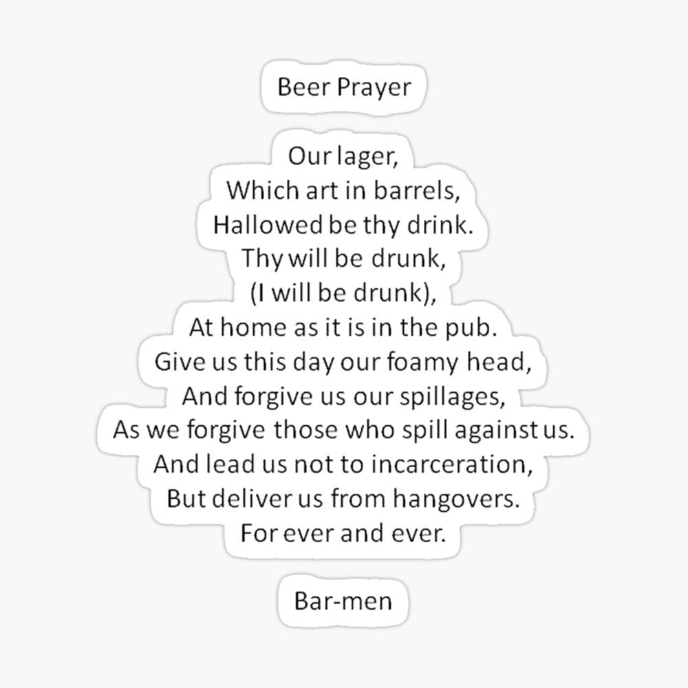 Barmen Text Parody of the Lord's Prayer  Sticker