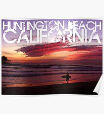 Huntington Beach, California - Surfer Poster