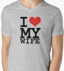 I love my wife Men's V-Neck T-Shirt