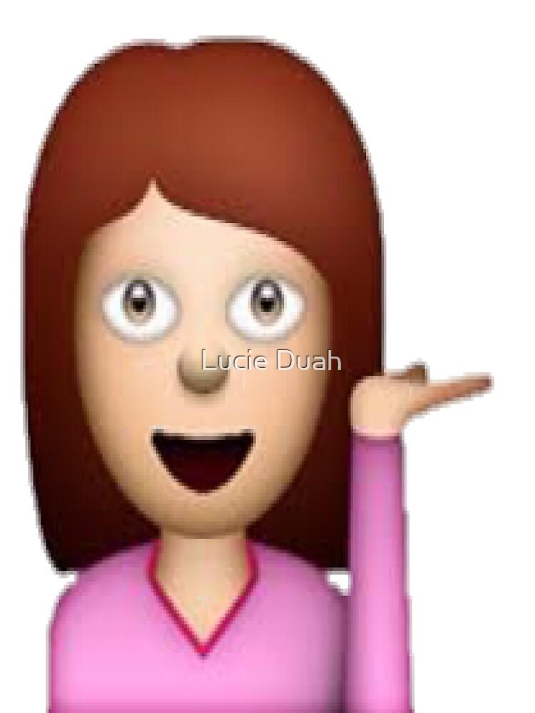 Sassy Girl Emoji by Lucie Duah