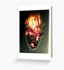Fire, walk with me Greeting Card