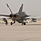 F/A 18 Being Loaded with Ordanance Before Take-Off by Buckwhite