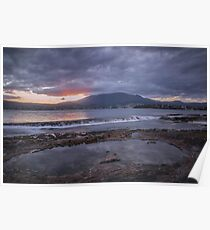 Rockpool Sunset Over Hobart Poster