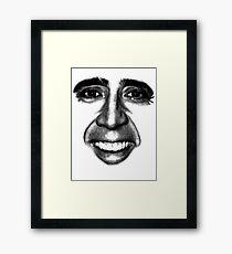 Nicolas Cage as a T-Shirt Framed Print
