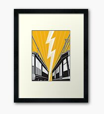 Vintage and Modern Streetcar Tram Train Framed Print