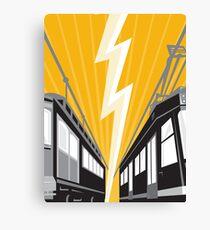 Vintage and Modern Streetcar Tram Train Canvas Print
