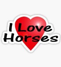 I Love Horses Sticker Equine T-Shirt Horse Bedspread Skirt Sticker