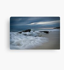 Winter Wave Surge Canvas Print