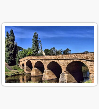 Richmond Bridge Tasmania Sticker