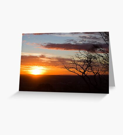 Sunset Hill Greeting Card