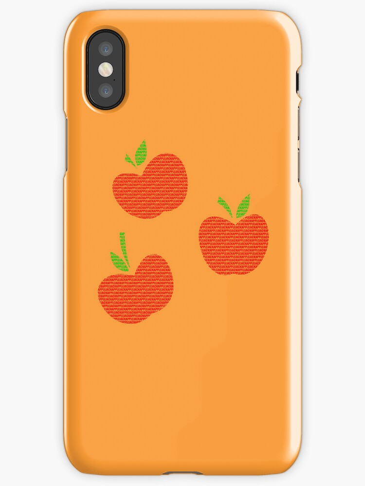 Applejack Text Original Iphone Cover by Alessandro Ionni