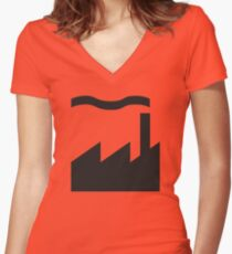 Factory Records Women's Fitted V-Neck T-Shirt