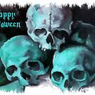 Happy Halloween Pile of Skulls After Cezanne by taiche