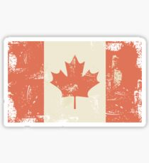 Grungy Canadian Flag Sticker