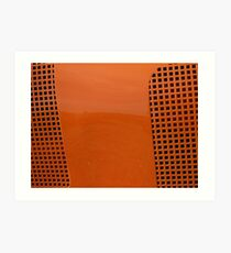 Orange you wondering what this is? Solved by RedHillDigital ~ the Coffee Train ~ Art Print