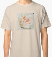 Close Up View Of A Romantic White Wedding Rose Classic T-Shirt